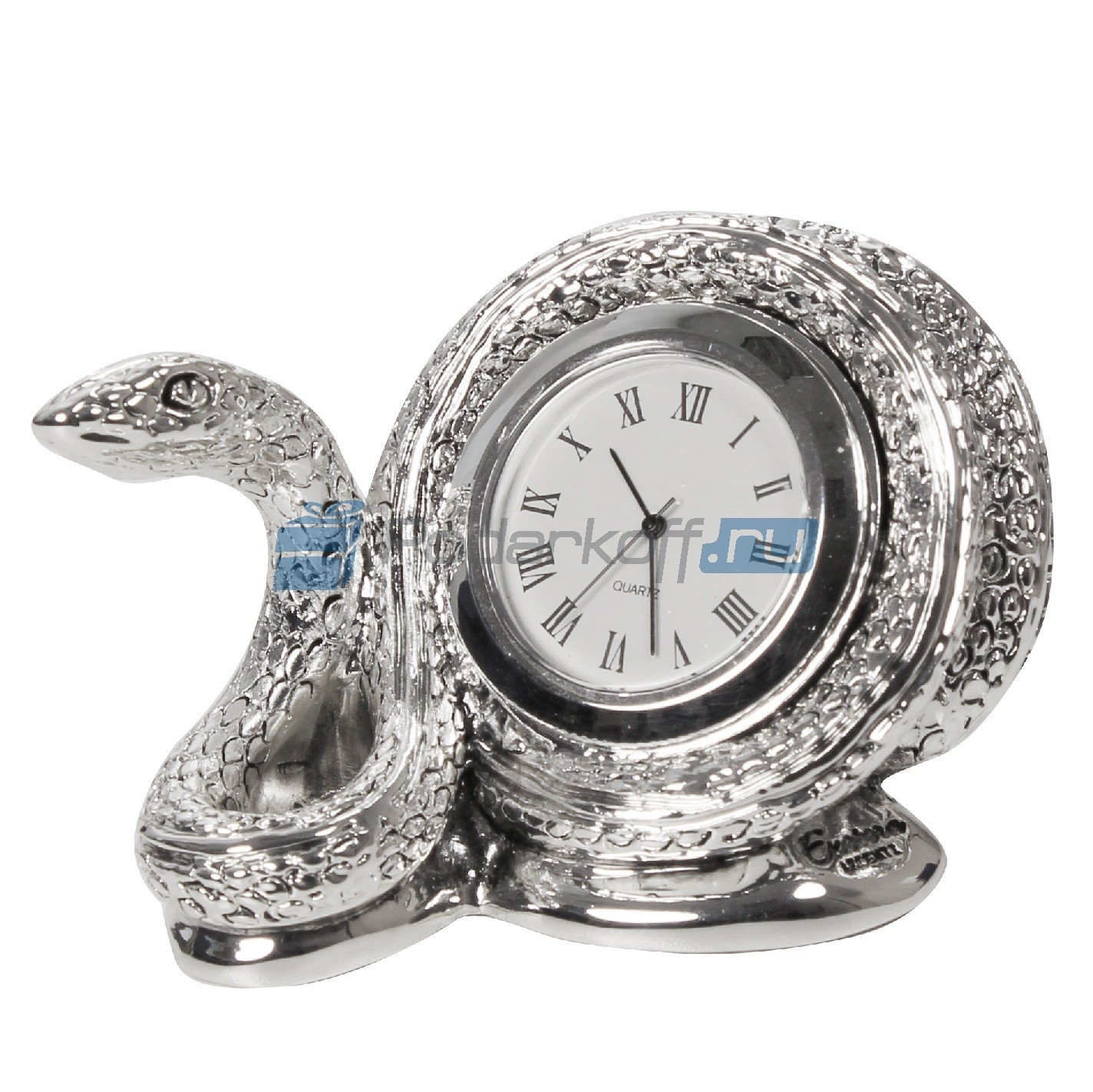 Часы с посеребрением Мудрая змея
