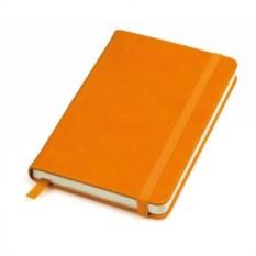 Оранжевый в клетку бизнес-блокнот A6+ Casual