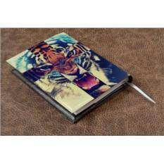 Кожаный ежедневник Тигр с полосами