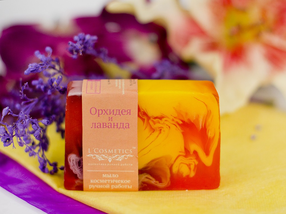 Мыло ручной работы Орхидея и лаванда
