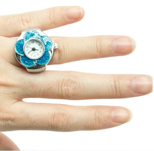 Голубые часы-кольцо Dream