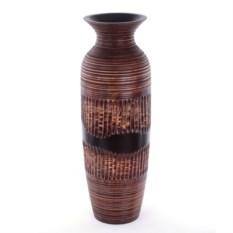Деревянная резная ваза (24х8 см)
