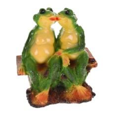 Садовая фигура Две лягушки на лавочке