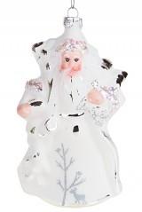 Елочное украшение Белый Дед Мороз
