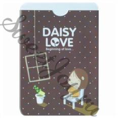 Обложка для проездного «Daisy Love», черная