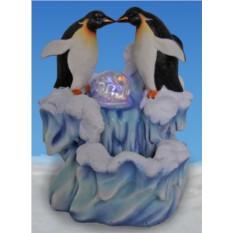 Декоративный фонтан «Парочка пингвинов у льдины»