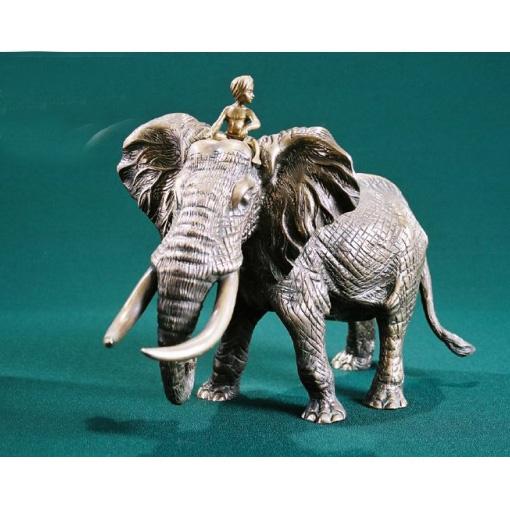 Статуэтка «Слон с погонщиком»