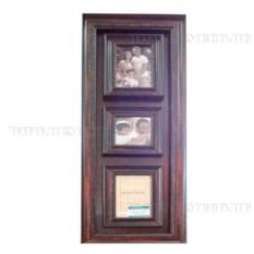 Деревянная фоторамка для 3-х фото (цвет — коричневый)