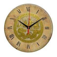 Античные круглые часы Санкт-Петербург. Монеты