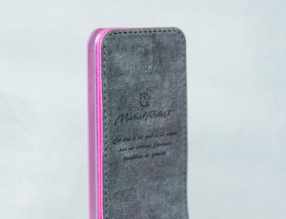 Кожаный чехол  для iPhone Теленок Oberland, розовый