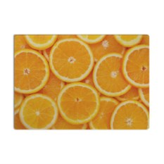 Стеклянная разделочная доска Апельсинчик