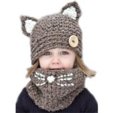 Шапка и шарф для детей Котик