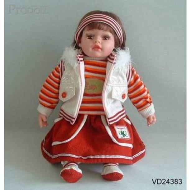 Виниловая кукла в белом жилете