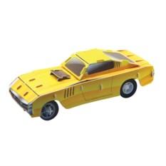 Инерционный 3D-пазл IQ Желтый гоночный автомобиль