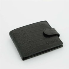 Черное портмоне S.Quire Crocco