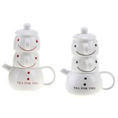 Набор чайник и 2 чашки Чай для двоих