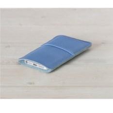 Кожаный голубой чехол Walster для iPhone 4/4s
