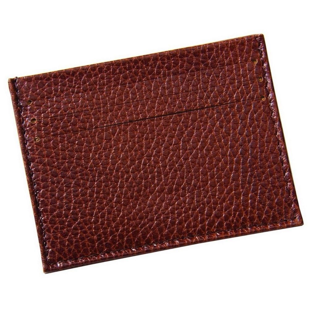 Коричневый футляр для кредитных карт