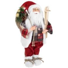 Новогоднее украшение Дед Мороз с подарками и лыжами