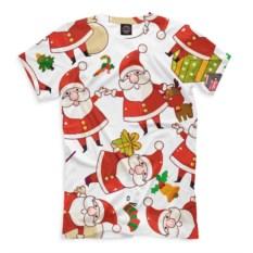 Мужская футболка Новый год (цвет: белый)