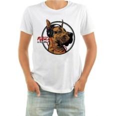 Мужская футболка Собака в наушниках