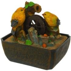 Декоративный фонтан с подсветкой Птички
