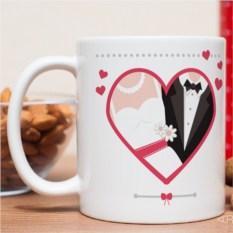 Именная кружка С днём свадьбы!