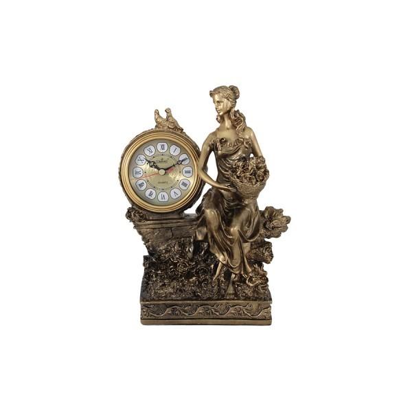 Настольные часы Девушка с букетом