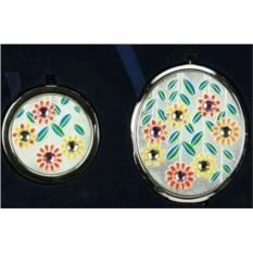 Подарочный набор зеркало и таблетница Цветы La Geer