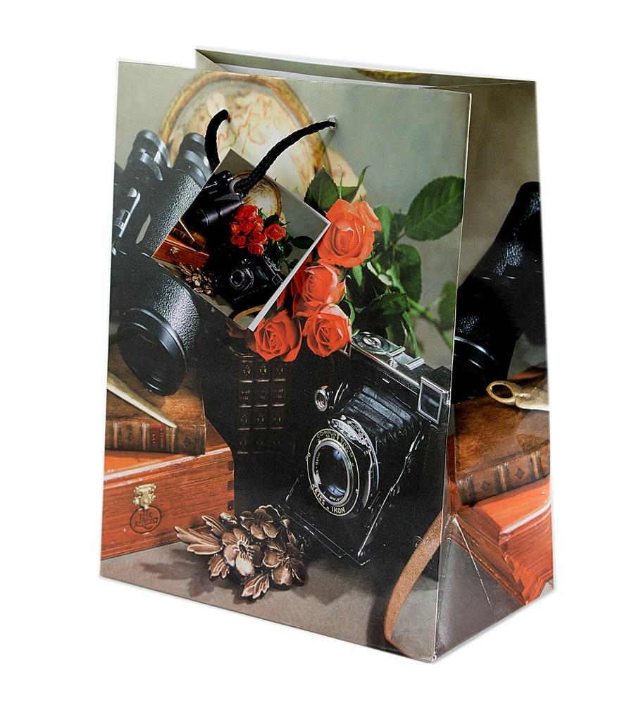 Бумажный ламинированный пакет Фотоаппарат