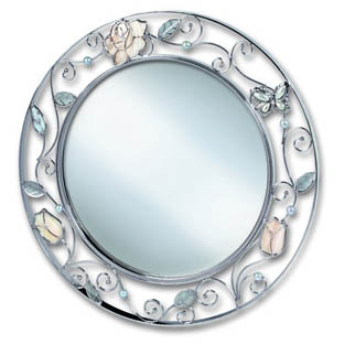 Зеркало «Бабочка с розой»
