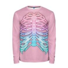 Мужской розовый лонгслив Грудная клетка