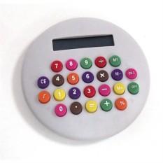 Круглый калькулятор с цветными кнопками