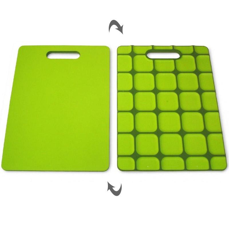 Разделочная доска с нескользящей силиконовой основой Grip-top™, зеленая