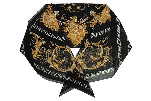 Черный женский платок Leo Ventoni (шерсть)