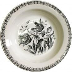 Глубокая фаянсовая тарелка Gien Тюльпаны