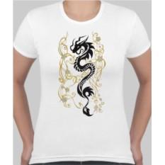 Женская футболка Тату дракон