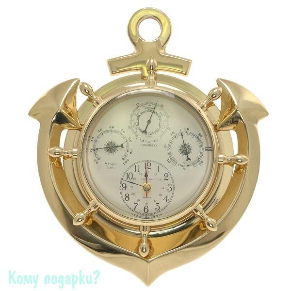 Композиция «Время» с термометром, барометром и гигрометром