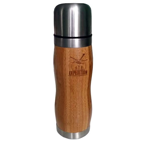 Фляжка стальная с бамбуковым покрытием Bamboo
