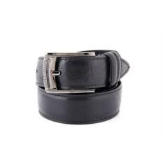 Черный мужской кожаный ремень тип B0041