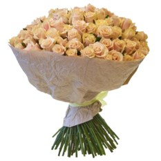 Букет из 101 розы Талея в крафтовой бумаге (40 см)