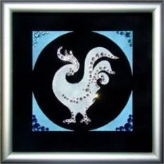 Картина Swarovski Год петуха