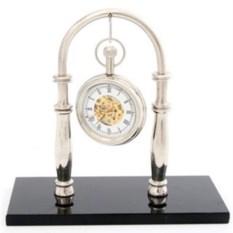 Настольные часы на подставке из натурального камня