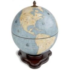Голубой настольный глобус-бар Галилео