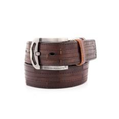 Коричневый мужской кожаный ремень G.Ferretti тип 66-7