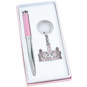 Набор: шариковая ручка, брелок «Корона»