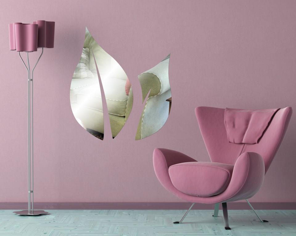 Декоративное акриловое зеркало «Лист»