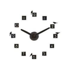 Часы-стикер Black Plate