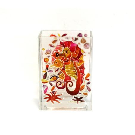 Ваза с ручной росписью «Морской конек»