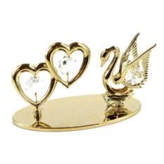 Декоративная фигурка Лебедь с кристаллами Сваровски